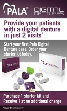 Pala Digital Dentures: Provide your patients with a digital denture in just 2 visits.