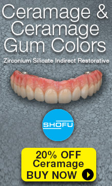 Ceramage and Ceramage Gum Colors: Zirconium silicate indirect restorative