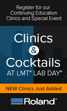 Register for Clinics & Cocktails at LMT with Roland!