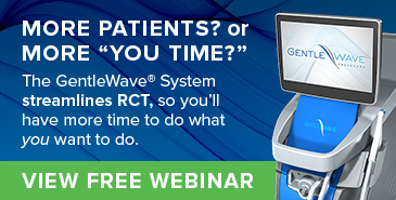 The GentleWave System streamlines RCT, so you'll have more time!