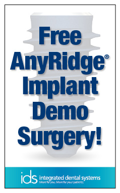 Free AnyRidge Implant Demo Surgery!