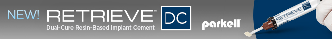New! Retrieve DC! Dual-cure resin-based implant cement!