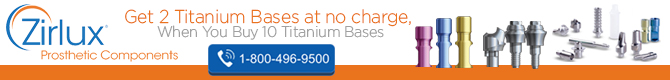 Get 2 Titatium Bases at no charge.
