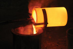 Figure 1  Pouring the molten metal into a mold.