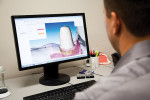 Figure 2  Technicians can virtually design a customized abutment with real-time technical support available from Straumann.