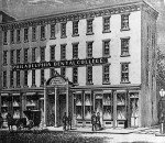 Philadelphia Dental College, now Temple University's Kornberg School of Dentistry, as it appeared at its founding in 1863.
