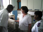 Eve Cuny providing sterilization training to the faculty and nurses at Muhimbili University Dental School in Dar es Salaam, Tanzania.
