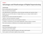 Table 1 Advantages and Disadvantages of Digital Impressioning