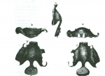 "Figure 2 Suersen's ""Speech Aid""—essentially a contemporary prosthesis. (Taken from: Aramany MA. A history of prosthetic management of cleft palate: Pare′ to Suersen. Cleft Palate J. 1971;8:415-430.)"