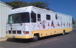 The mobile dental office is used by Santa Barbara-Ventura Counties Dental Care Foundation to provide optimal oral care for residents.
