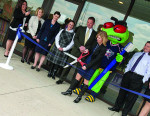 Figure 2 KidSMILES Grand Opening and Ribbond Cutting on April 2, 2012, featuring special guest Stinger from the Columbus Blue Jackets.