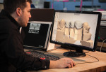 Justin Hayes uses 3Shape CAD software for crown design.