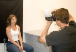 Figure 9  The set up and taking an image with the Lightsphere II Diffuser.
