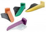 Figure 1  The FenderWedge is available in four color-coded sizes—1 mm, 1.4 mm, 1.9 mm, and 2.3 mm.