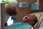 Fig 4. Fig 4. Checking for interocclusal clearance and proper tissue management