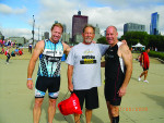 From left: Tad Friess of Rockert Dental Laboratory in Chicago, Marlin Gohn of Argen Corporation, and Nick Azarra of BEGO at last year's Race for the Future.