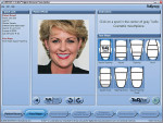 "Figure 2  With the patient""s photographuploaded, this screen allows the user to selectthe facial shape."