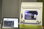 DentaSwiss DS1300 compact wet 4-axis milling machine and Surface tablet.