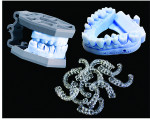 Fig 1. Printed models and surgical guides from In'Tech Industries, Incorporated, which provides outsourcing services.