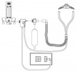 Figure 3  Nitrous unit flow diagram illustrates the parts required for safe use.