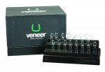 Fig 1. To ensure uniformity of shape and contour, a composite resin veneer template (UveneerTM) was used.
