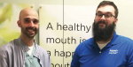 Todd Weils (right) became an Aspen Dental Lead Technician after training under Lead Technician James McMahon (left) as part of a program developed by ADMI.