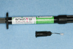 Figure 3  The syringe delivery system of Bond-1 SF Adhesive was utilized.