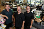 From left, Juan Rego, Nelson Rego, and Jonathan Rego of Smile Designs by Rego in Santa Fe Springs, California.