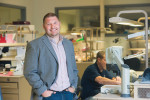 Jay Collins, owner of Cornerstone Dental Labs in Huntingdon Valley, Pennsylvania.