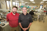 Owen Thayer, CDT, left, and Gregory Thayer, CDT, FICOI, of Thayer Dental Laboratory in Mechanicsburg, PA.