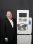 Steve Braykovich, owner of Axsys Incorporated in Wixom, Michigan. Braykovich uses hyperDENT CAM software for his Versamill line of milling machines.