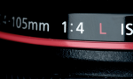 "Fig 6. Lenses with a red line, or ""L,"" are a higher quality glass but not necessary for intraoral photography."