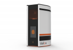 The Structo Velox features a patented fully autonomous postprocessing system to streamline appliance manufacturing, with three stages—print, wash, and cure—on a rotating carousel, all in one small-footprint system.