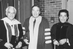 Dr. Cohen (center), who was Dean of Penn Dental Medicine from 1972-1983, pictured with Dr. Morton Amsterdam (left) and Dr. Louis Rose (right).