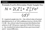 Fig 1. Formula used to determine study sample size.