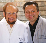 Fig 3. An undated photo of Evolution Dental Science CEO Andy Jakson, right, and the late Victor Sendax, DDS.