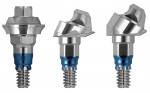 Figure 5  Straight and angled Low Profile Abutments were used.