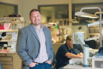 Jay Collins, CEO of Cornerstone Dental Labs in Bristol, PA
