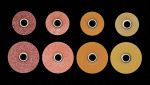 Figure 5  Sandpaper discs in a variety of sizes and grits.