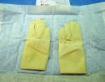 Figure 1  Sterile surgeon's gloves are indicated for oral surgical procedures.